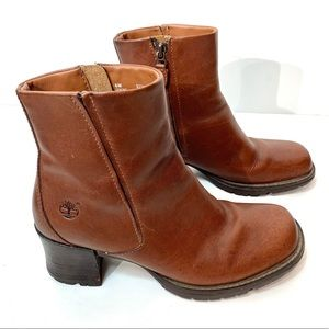 Timberland Alyse Brown Leather Ankle Boots Size 6